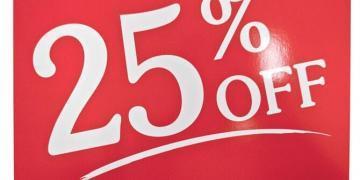 voucher 25 %